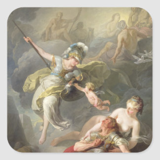 Battle Between Minerva and Mars, 1771 Square Sticker