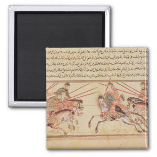 Battle between Mongol tribes, 13th century Square Magnet
