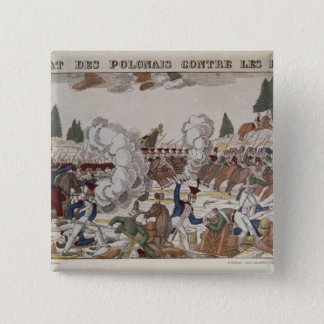 Battle between Polish and Russian Troops, 1831 15 Cm Square Badge