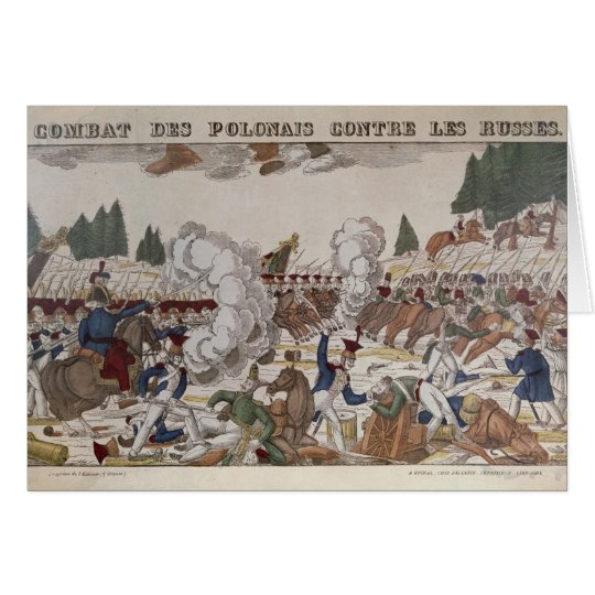 Battle between Polish and Russian Troops, 1831 Card