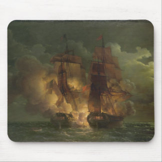 Battle Between the French Frigate 'Arethuse' Mouse Pad