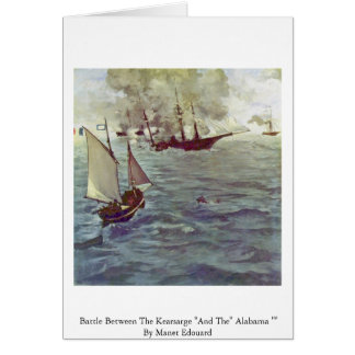 "Battle Between The Kearsarge ""And The"" Alabama """" Card"