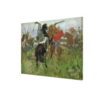 Battle between the Scythians and the Canvas Print