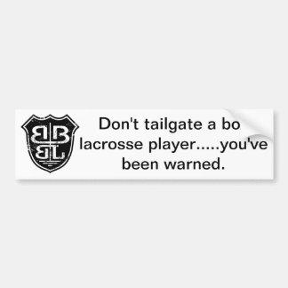 Battle Born Box Lacrosse Merchandise Bumper Sticker
