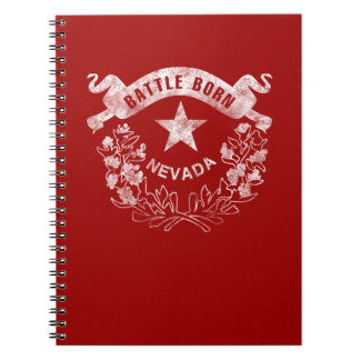 Battle Born - Nevada, Las Vegas. Flag Logo Vintag Spiral Notebook