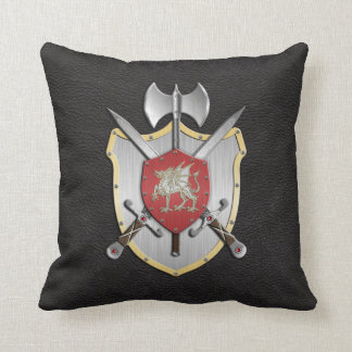 Battle Crest Dragon Black Cushion