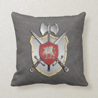 Battle Crest Dragon Grey Cushion