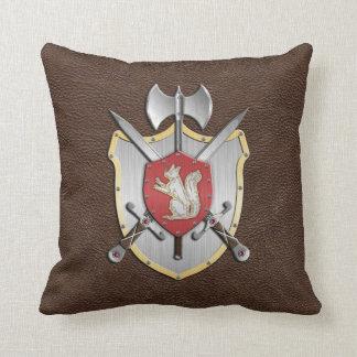 Battle Crest Squirrel Brown Cushion
