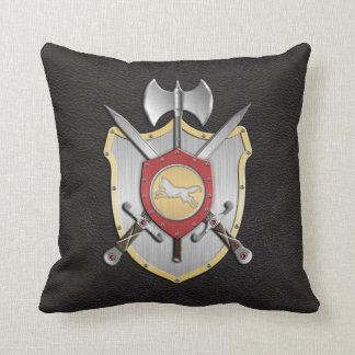 Battle Crest Wolf Black Cushion