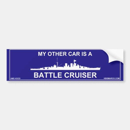 Battle Cruiser Hood Bumper Stickers