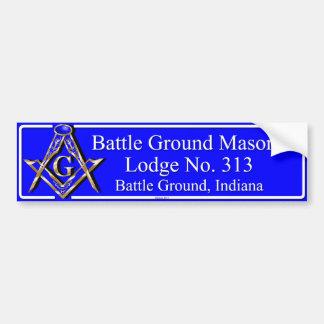 Battle Ground Lodge No 313 Version 2 Bumper Sticker
