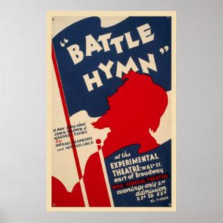 Battle Hymn Harpers Ferry 1938 WPA Vintage Poster