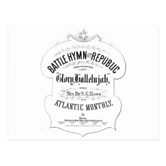 Battle Hymn of the Republic Music Cover Sheet Postcard