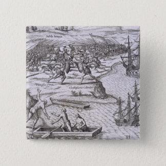 Battle in Jamaica between Christopher Columbus (14 15 Cm Square Badge
