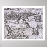 Battle in Jamaica between Christopher Columbus (14 Poster