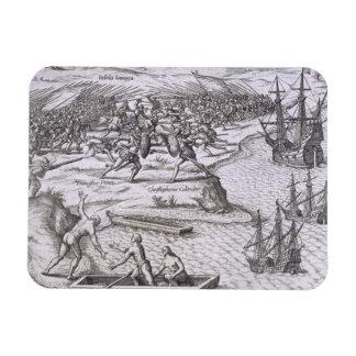 Battle in Jamaica between Christopher Columbus 14 Magnet