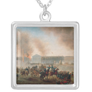 Battle in the Place de la Concorde, 1871 Silver Plated Necklace