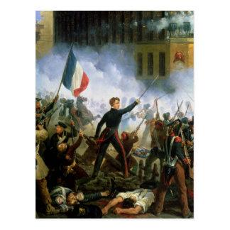 Battle in the Rue de Rohan Postcard