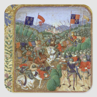 Battle of Agincourt, October 25th 1415 (w/c on pap Square Sticker