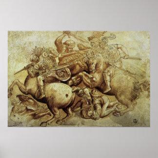 Battle of Anghiari, da Vinci, Vintage Renaissance Poster