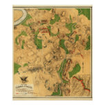 Battle of Antietam - Civil War Panoramic Map 3 Poster