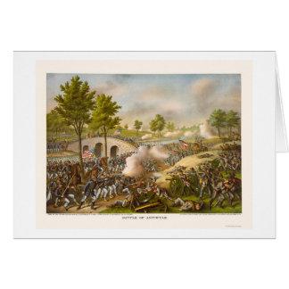 Battle of Antietam Showing General McClellan 1862 Card