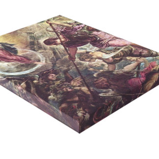 Battle of Archangel Michael, Satan by Tintoretto Stretched Canvas Print