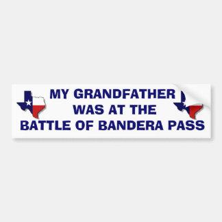 BATTLE OF BANDERA PASS BUMPER STICKER