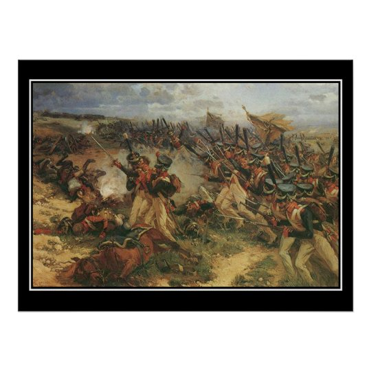 Battle of Borodino Napoleon Vintage Poster