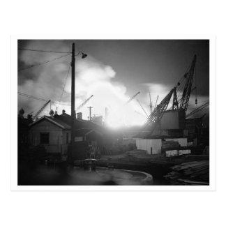 Battle of Britain & The Blitz: #21 Surrey Dock D+1 Postcard