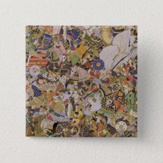 Battle of Bundi, from the Akbarnama, c.1590 (gouac 15 Cm Square Badge