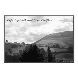 Battle of Camlan: Cefn Byriaeth and Bryn Cleifion Photographic Print