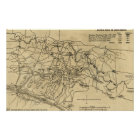 Battle of Chickamauga - Civil War Panoramic Map 2 Poster