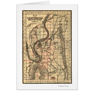 Battle of Chickamauga - Civil War Panoramic Map 3 Card