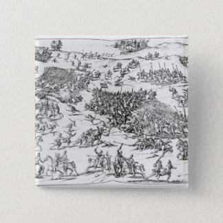 Battle of Courtrais Between French and Flemish 15 Cm Square Badge