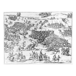 Battle of Courtrais Between French and Flemish Postcard