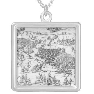 Battle of Courtrais Between French and Flemish Silver Plated Necklace
