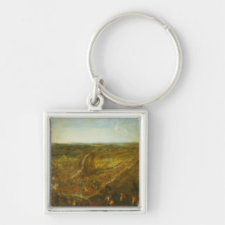 Battle of Fleurus, 1st July 1690 Silver-Colored Square Key Ring