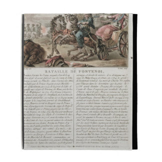 Battle of Fontenoy, 1745, engraved by Louis Le Coe iPad Case