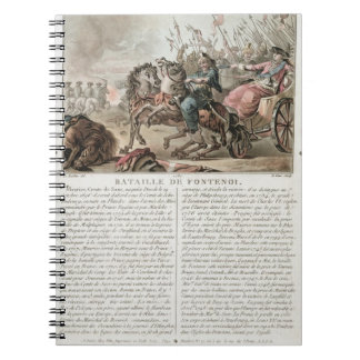 Battle of Fontenoy, 1745, engraved by Louis Le Coe Notebook