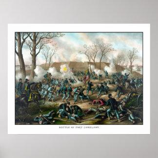 Battle of Fort Donelson -- Civil War Poster