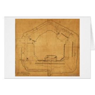 Battle of Fort Sumter - Civil War Panoramic 3 Card