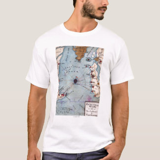 Battle of Fort Sumter - Civil War Panoramic T-Shirt
