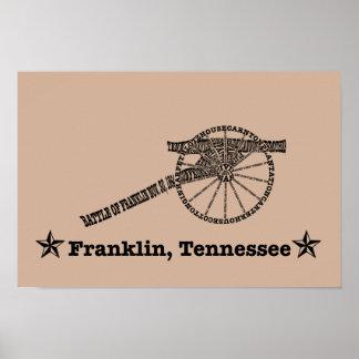 Battle of Franklin Word Art Poster