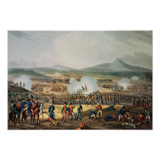 Battle of Fuentes D'Onoro,engraved by Thomas Poster