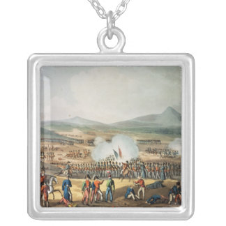 Battle of Fuentes D'Onoro,engraved by Thomas Silver Plated Necklace