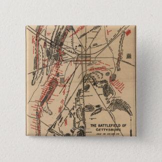 Battle of Gettysburg 2 15 Cm Square Badge