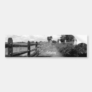 Battle of Gettysburg Black & White Bumper Sticker
