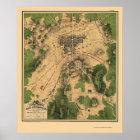 Battle of Gettysburg, PA Panoramic Map - 1863 Poster