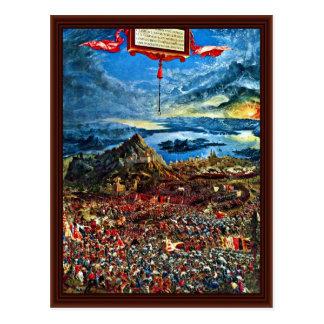 Battle Of Issus By Altdorfer, Albrecht Postcard